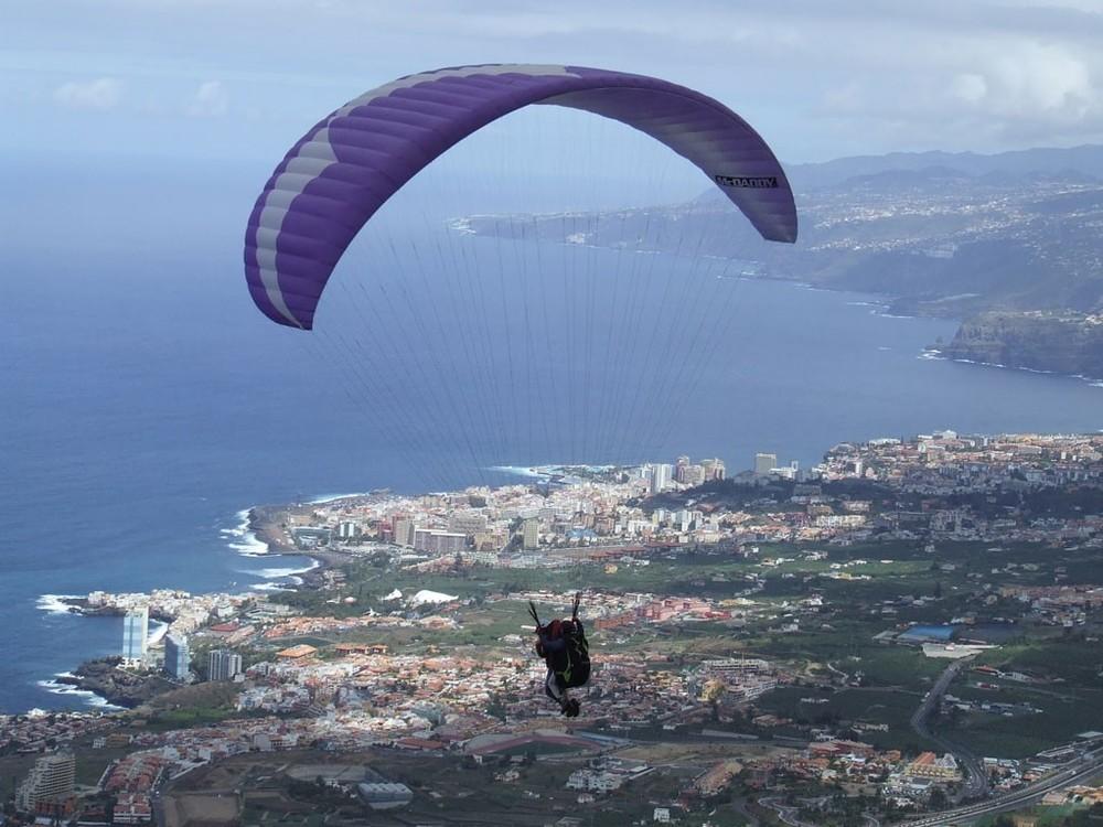 paragliding in Tenerife Villa Mandi La corona